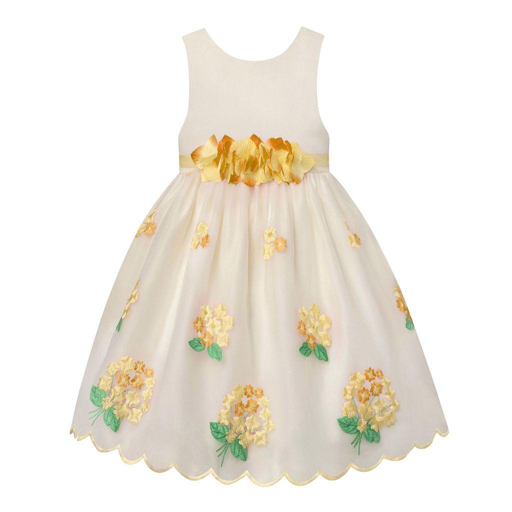 Girls 7-16 American Princess Flower Waist & Embroidered Skirt Dress