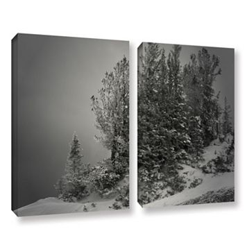 ArtWall 10,000 Feet Of Silence Canvas Wall Art 2-piece Set