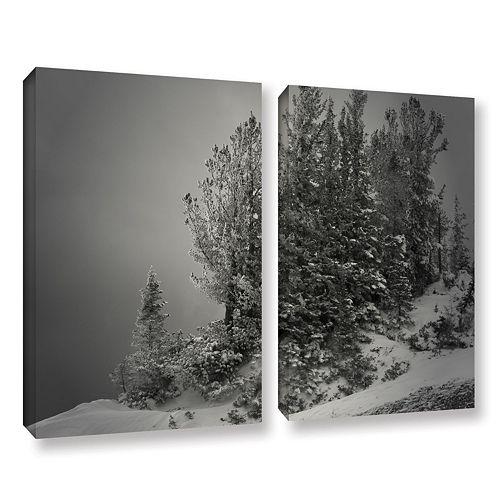 ArtWall 10,000 Feet Of Silence Canvas Wall Art 2-piece Set