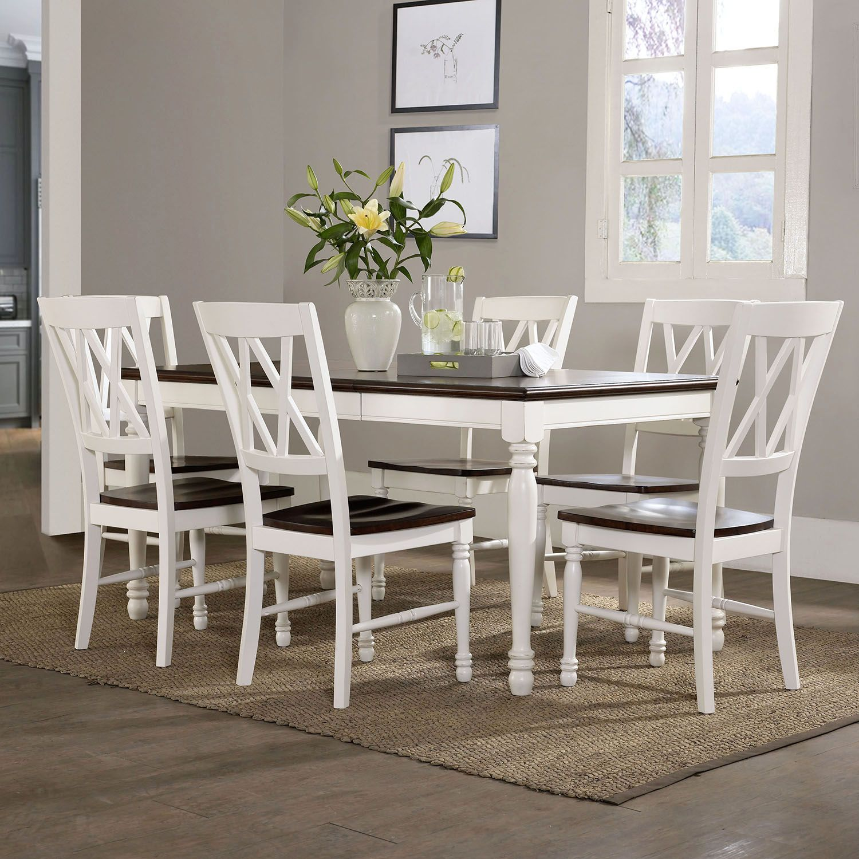 Crosley Furniture Shelby Dining Table, Chair U0026 Leaf 7 Piece Set