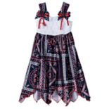 Toddler Girl Blueberi Boulevard Bandana Crochet Patriotic Dress