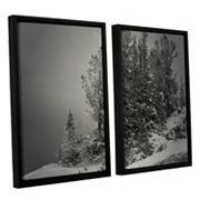 ArtWall 10,000 Feet Of Silence Framed Wall Art 2 pc Set