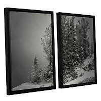 ArtWall 10,000 Feet Of Silence Framed Wall Art 2-piece Set