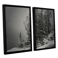 ArtWall 10,000 Feet Of Silence Framed Wall Art 2-piece Set