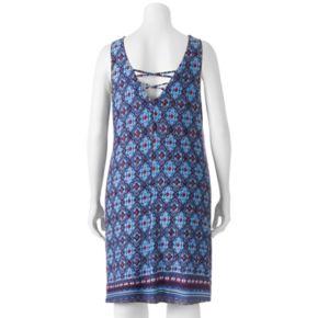 Juniors' Plus Size HeartSoul Print Strappy Swing Dress