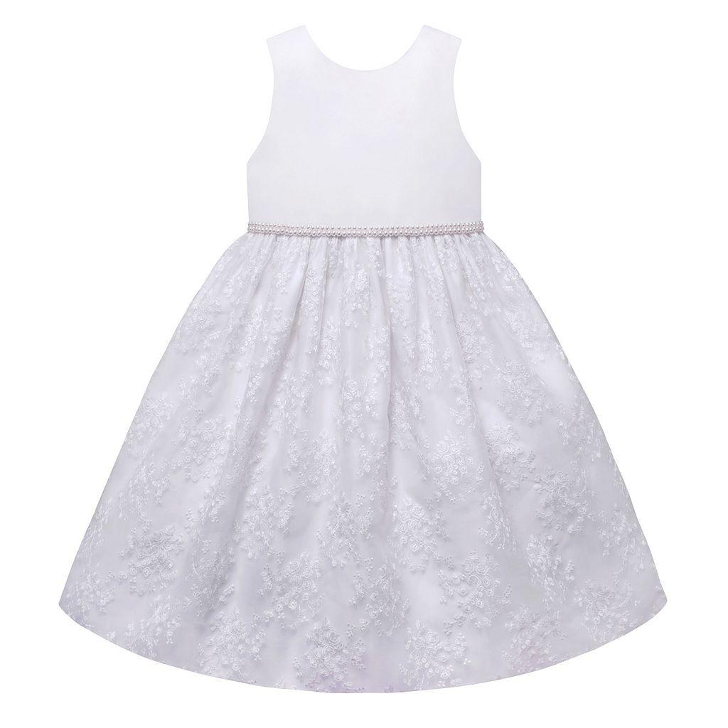 Girls 7-12 American Princess Pearl Waist Embroidered Skirt Dress