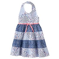 Toddler Girl Blueberi Boulevard Floral Halter Dress
