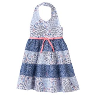 Toddler Girl Blueberi Boulevard Floral Halter Dress