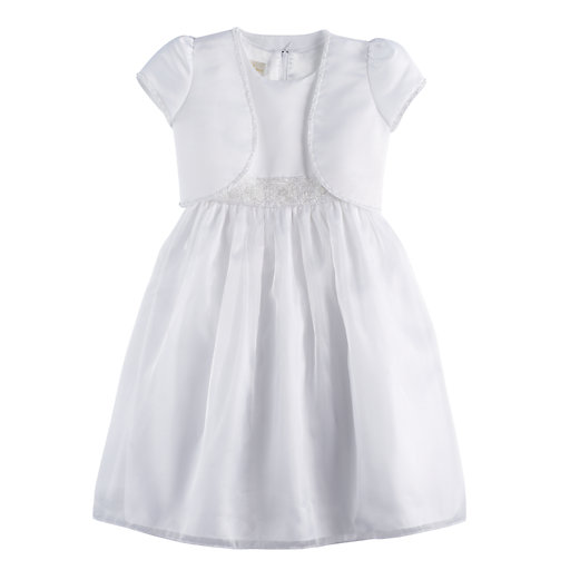 Girls 7 16 Plus Size American Princess Beaded Trim Dress And Shrug