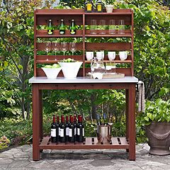 Crosley Furniture Mesa Indoor / Outdoor Island Buffet & Storage Hutch 2-piece Set