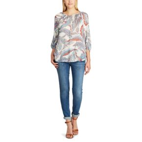 Women's Chaps Printed Georgette Blouse
