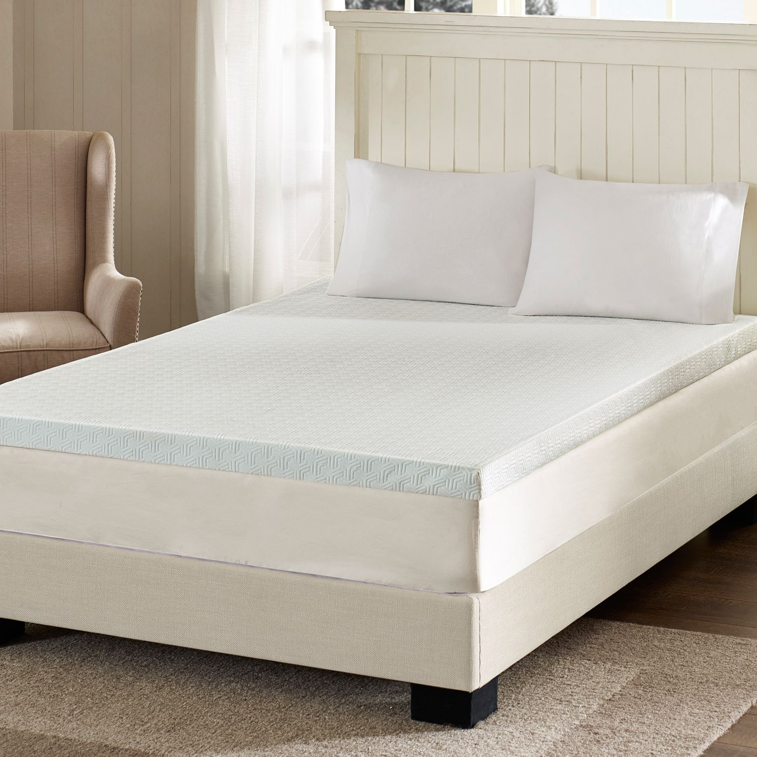 flexapedic by sleep philosophy 3inch twin xl memory foam mattress topper