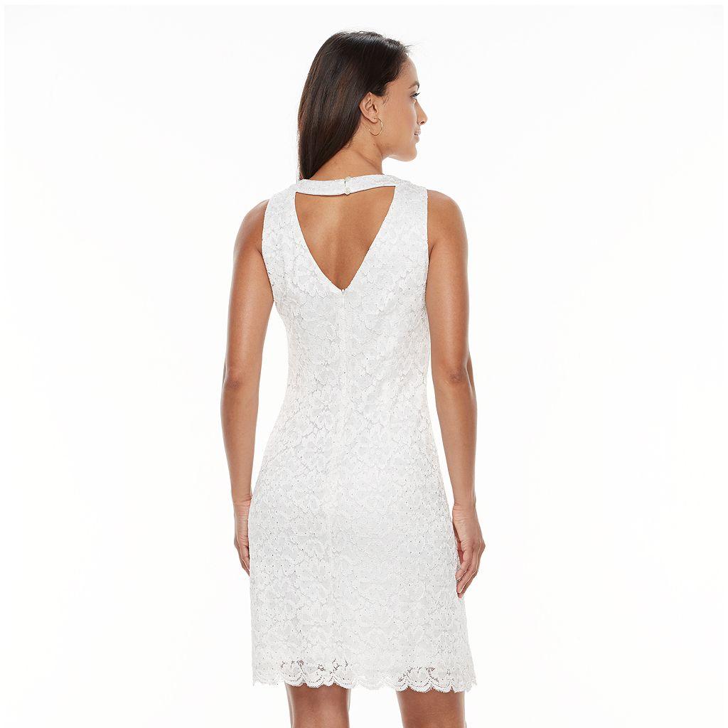 Women's Scarlett Scalloped Lace Shift Dress