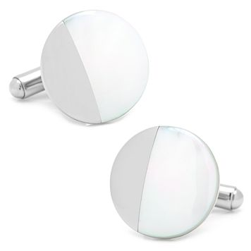 Round Mother of Pearl Cuff Links