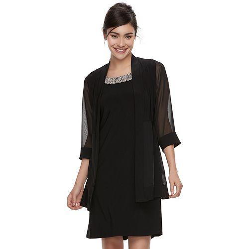 Women's Scarlett Chiffon Shift Dress & Cardigan Set