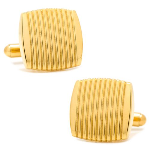 Ribbed Square Cuff Links