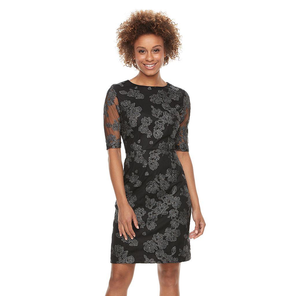 Women's Scarlett Flocked Mesh Dress