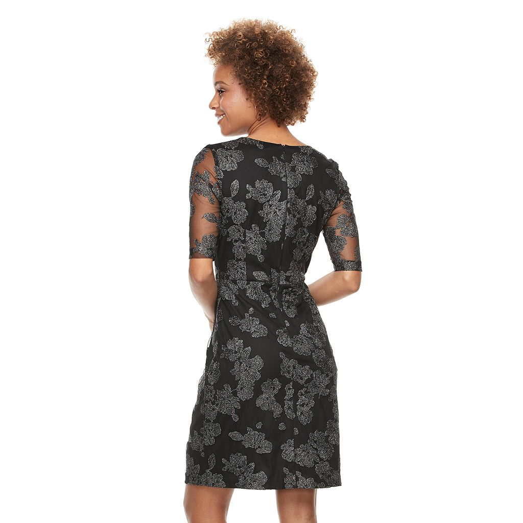 Women's Scarlett Flocked Mesh Dress