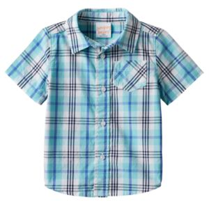 Baby Boy Jumping Beans® Plaid Button-Front Shirt