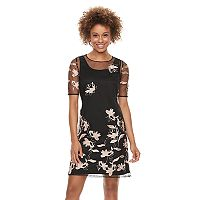 Women's Scarlett Embroidered Mesh Shift Dress