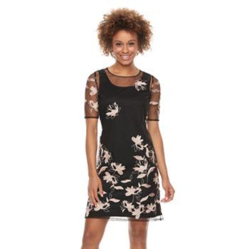 Women's Scarlett Embroidered Mesh Shift Dress
