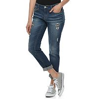 Juniors' Unionbay Steph Distressed Boyfriend Jeans
