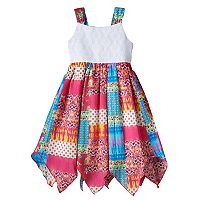 Toddler Girl Blueberi Boulevard Crocheted Hanky-Hem Dress
