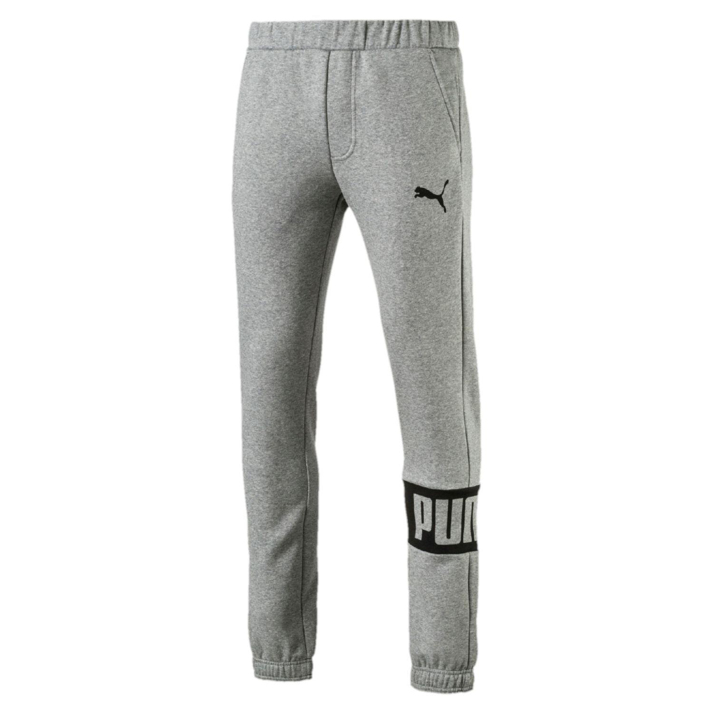 Men\u0027s PUMA Rebel Fleece Jogger Pants. Medium Gray Heather Olive Night