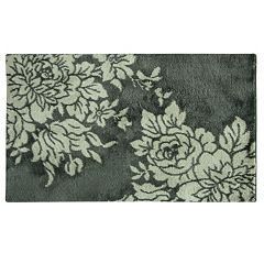 Bacova Cashion Microfiber Big Blooms Floral Rug