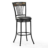 Crosley Furniture Templeton Swivel Bar Stool