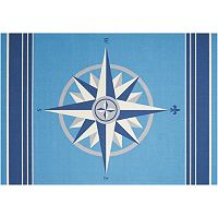 Waverly Sun N' Shade Sailing Compass Indoor Outdoor Rug - 10' x 13'