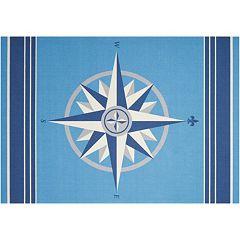 Waverly Sun N' Shade Sailing Compass Indoor Outdoor Rug - 10' x 13'