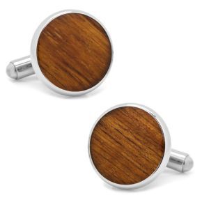 Stainless Steel Wood Cuff Links