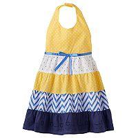 Toddler Girl Blueberi Boulevard Print Tiered Halter Dress