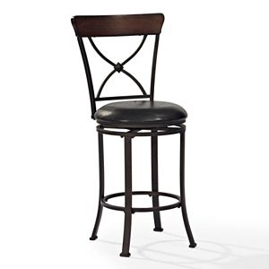 Crosley Furniture Pruitt Swivel Counter Stool