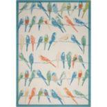 Waverly Sun N' Shade Retweet Bird Indoor Outdoor Rug - 10' x 13'