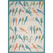 Waverly Sun N' Shade Retweet Bird Indoor Outdoor Rug - 10' x 13'