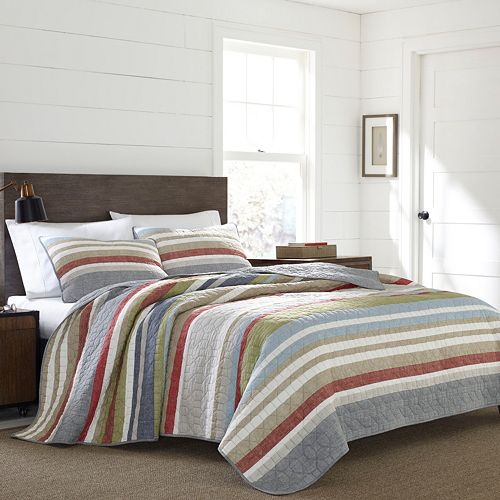 Eddie Bauer Salmon Ladder Quilt Set