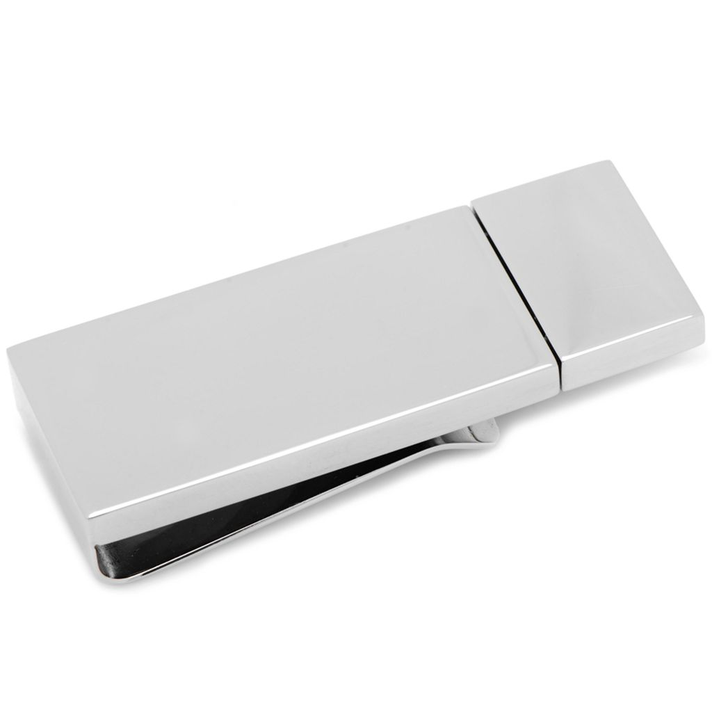 Silver-Plated 8 GB Flash Drive Money Clip