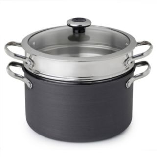 Revere Clean Pan 6.5-qt. Hard-Anodized Aluminum Nonstick Stockpot with Lid & Pasta Insert