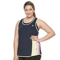 Plus Size FILA SPORT® Rainbow Stripe Tank Top