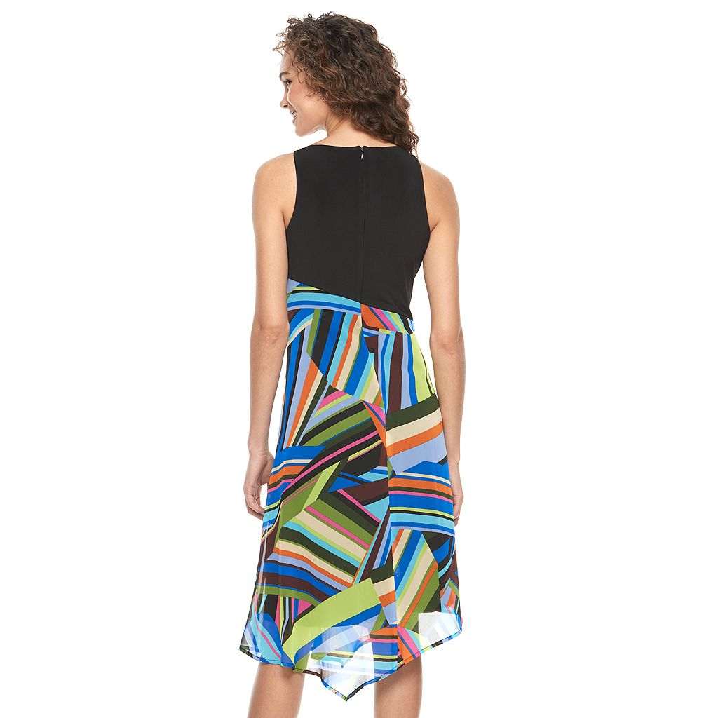 Women's Suite 7 Print Asymmetrical Dress