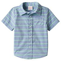 Baby Boy Jumping Beans® Striped Button-Front Shirt