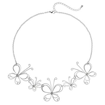Mudd® Wire Butterfly Necklace