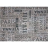 Waverly Sun N' Shade Printed City Words Indoor Outdoor Rug - 10' x 13'