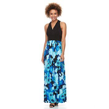 Women's Suite 7 Pleated Floral Maxi Dress