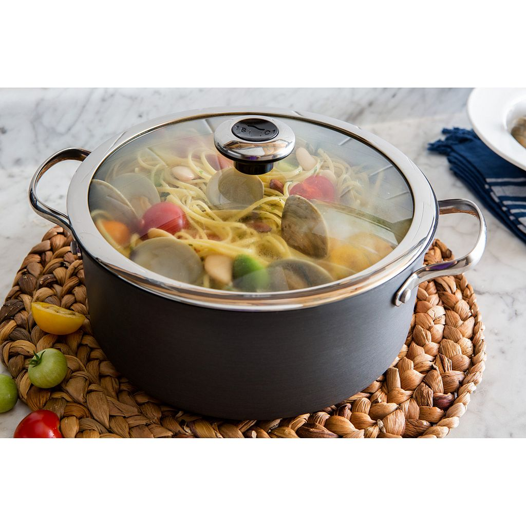 Revere Clean Pan 5-qt. Hard-Anodized Aluminum Nonstick Dutch Oven with Lid
