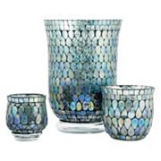 Pomeroy Shimmer Mosaic Candle Holder 3 pc Set