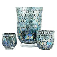 Pomeroy Shimmer Mosaic Candle Holder 3-piece Set
