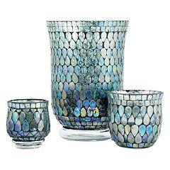 Pomeroy Shimmer Mosaic Candle Holder 3 pc Set